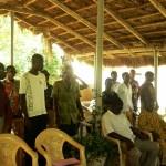 Incontro con gli studenti universitari a Lomè - Il canto finale