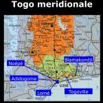 Piantina dei nostri spostamenti nel Togo meridionale