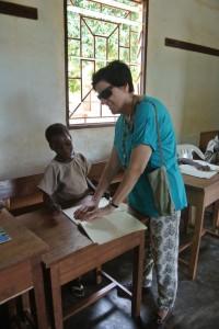 Viola in classe a Togoville