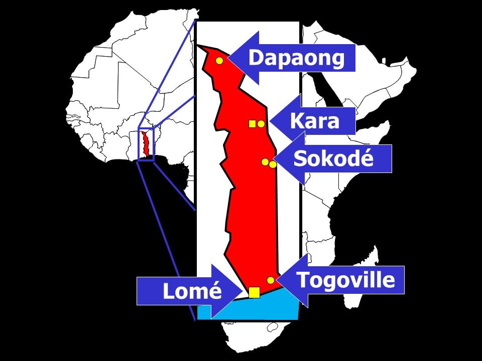 Carta del Togo