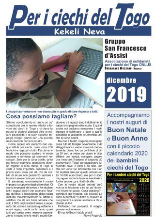 Per i ciahci del Togo - dicembre 2019