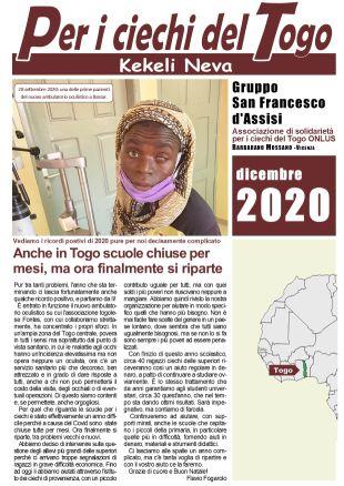 Per i ciechi del Togo dicembre 2020
