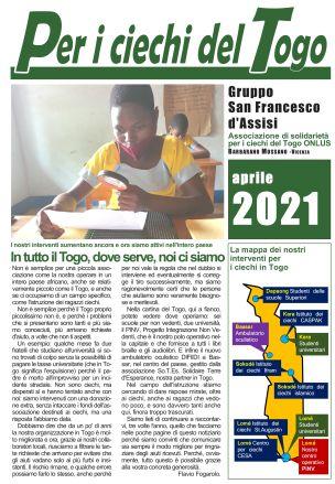 Per i ciechi del Togo - Aprile 2021