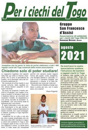 Per i ciechi del Togo - Agosto 2021